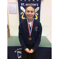 Jess - gold medallist in the Year 6 girls race