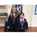Ana and Macy - first and second, Year 5 girls