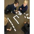 Tricky word dominoes.
