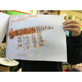 Tiger drawing during Choose Your Own Learning.