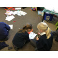 Year 2 playing a dice game.