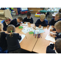 Year 1 drawing Funnybones story maps.