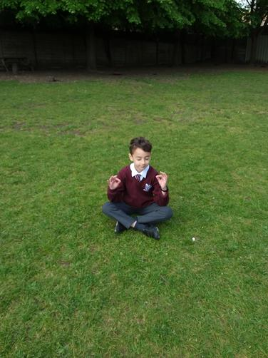 We spent a lot of time meditating outside...