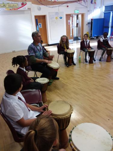 We learnt so much about the origins of African Drumming and beats!