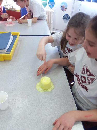 The citric acid in the lemon juice and the sodium bicarbonate reacted!