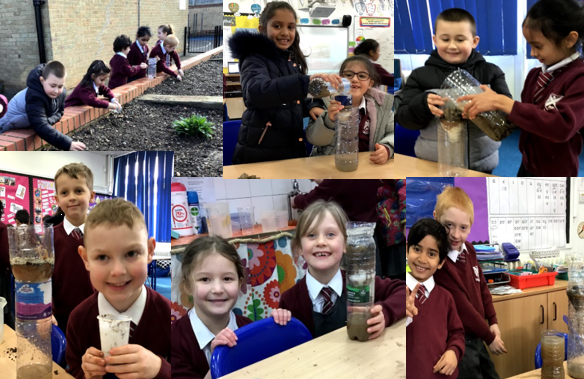 Year 2 designed and made water filters for our Mars space colony.