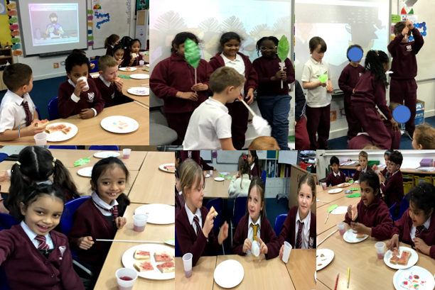 Year 2 had their own 'Last Supper' and we acted out the scenes