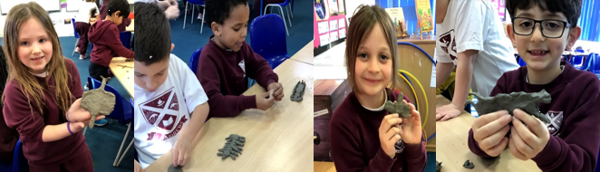 Year 2 designed and made robo-insects out of clay.