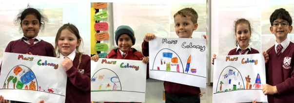 Year 2 designed and made space colonies for Mars.