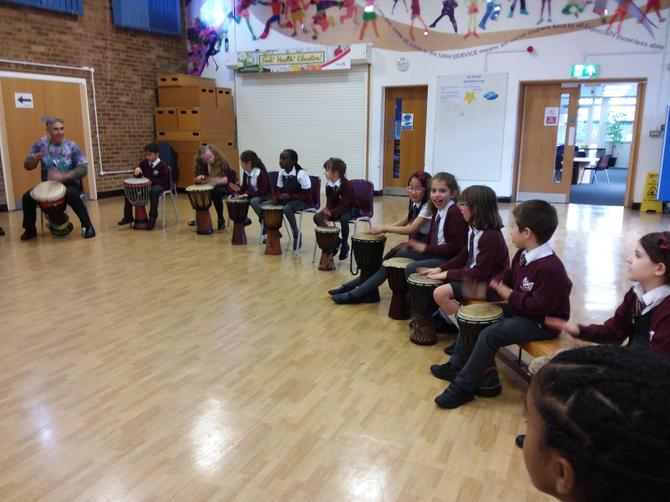We had the best time when we attended the African Drumming Workshop!
