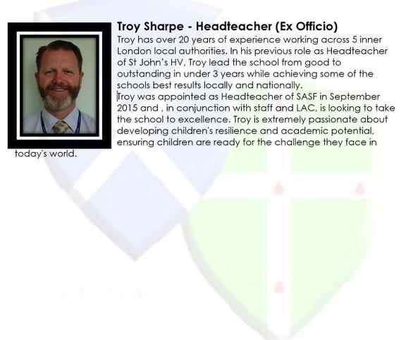 Troy Sharpe - Headteacher (Ex Officio)