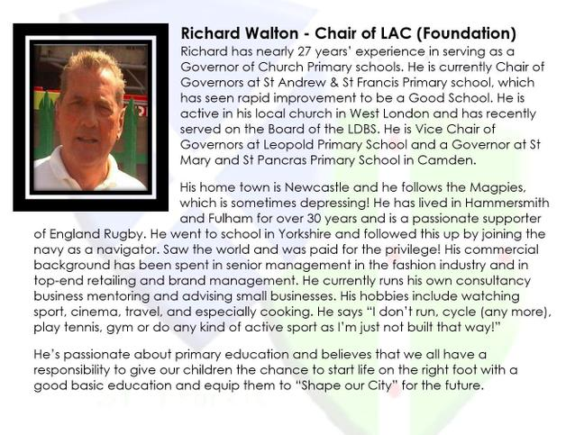 Richard Walton - Chair of LAC (Foundation)