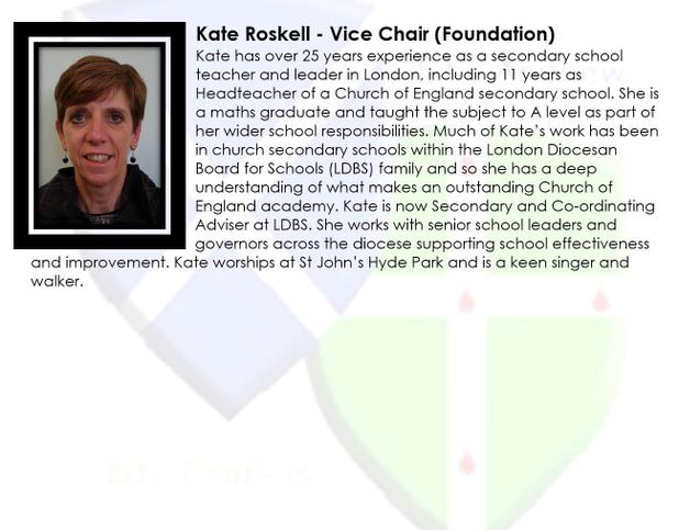Kate Roskell - Vice Chair (Foundation)