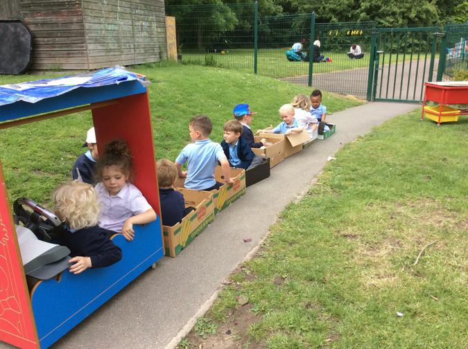 """We went on a train ride. We played """"I Spy"""""""
