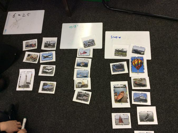 We sorted vehicles.