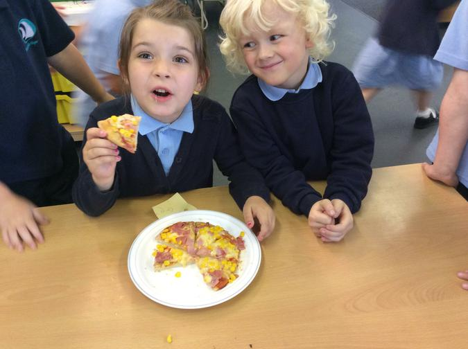 We made our own pizza's.