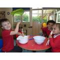 Porridge playdough