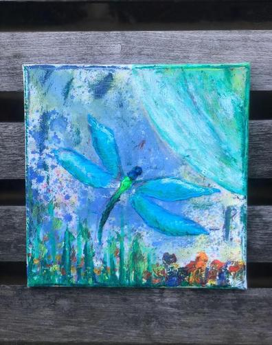 Miss Ferrans' dragonfly canvas