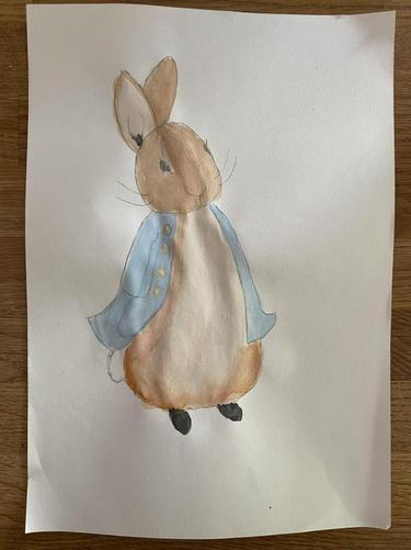 Miss Penny's watercolour Peter Rabbit