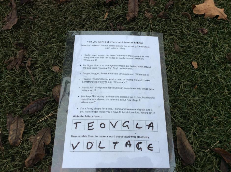 Electricity orienteering challenge.