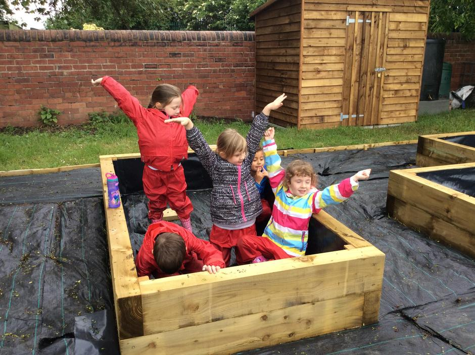 'Can we sleep in the raised beds?' 😄