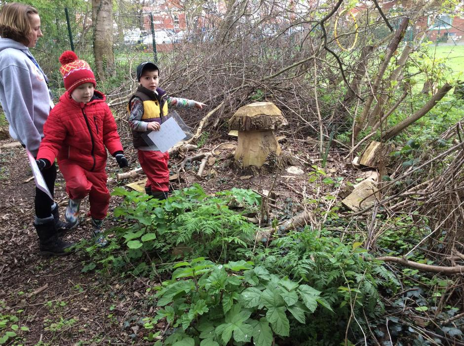 'Look, look, we've  found a mushroom!'