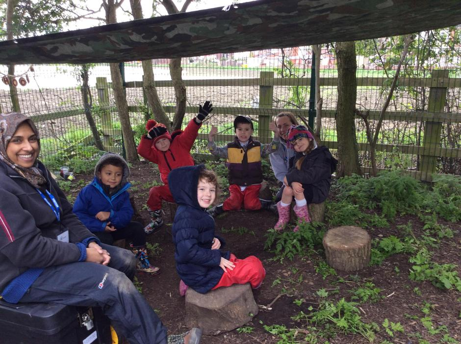 Our new Forest School children.