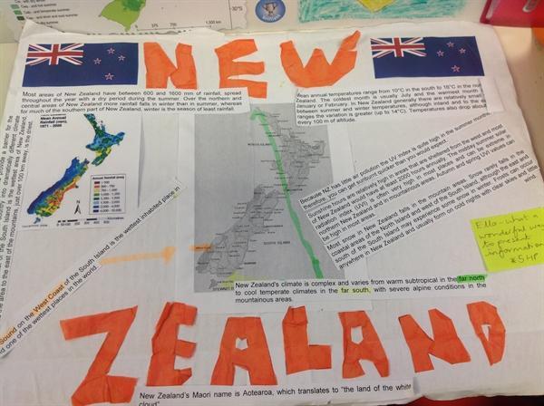 Ella's homework on New Zealand