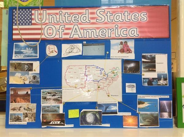 Noah's homework on the USA
