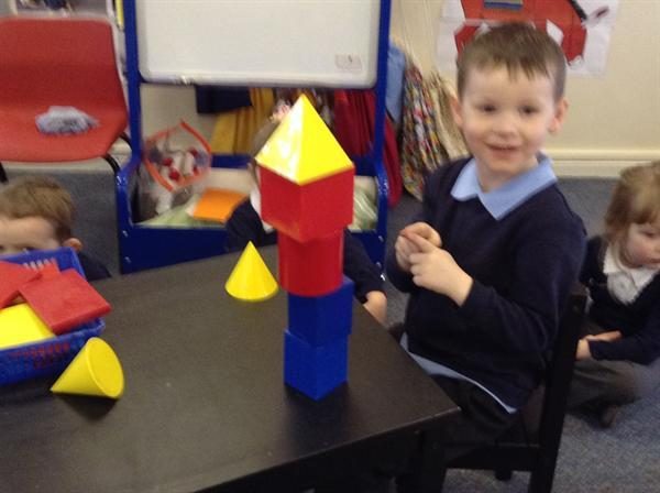 More 3d shape rockets in nursery