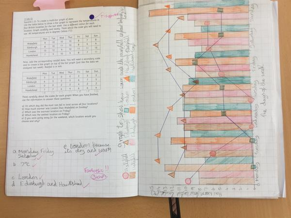 Year 5 Bar and Line graph
