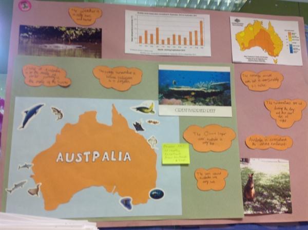 Phoebe's homework on Australia
