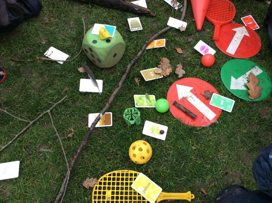We played, 'Go find it', we found lots of plastic.