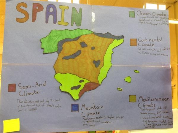 Poppy's homework on Spain