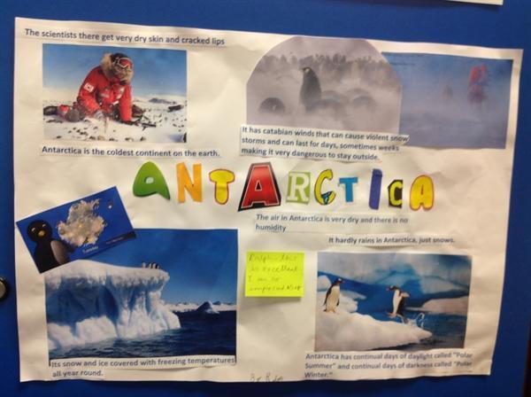 Ralph's homework on Antarctica