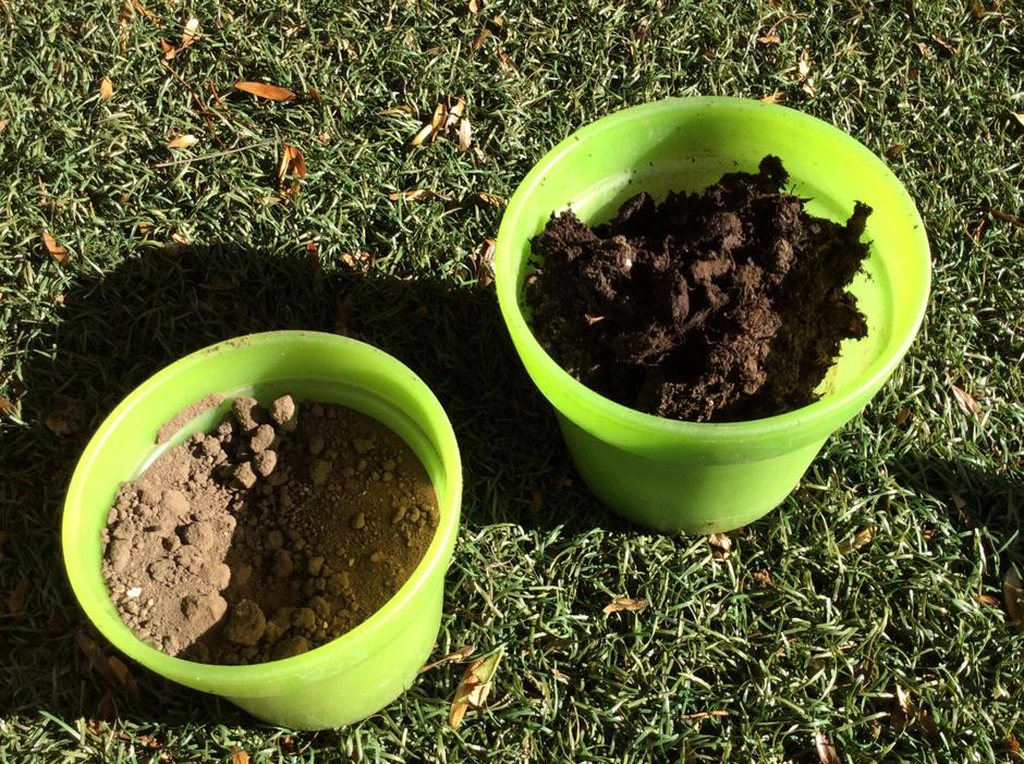 Different types of soil.