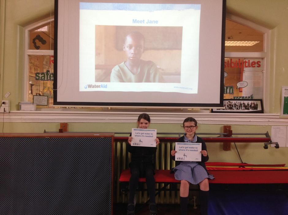 We told the school about Wateraid In assembly.