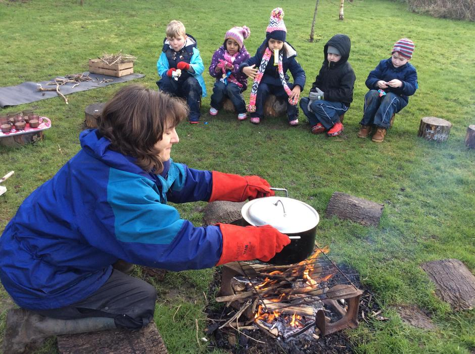 Camp fire popcorn - nothing like it!