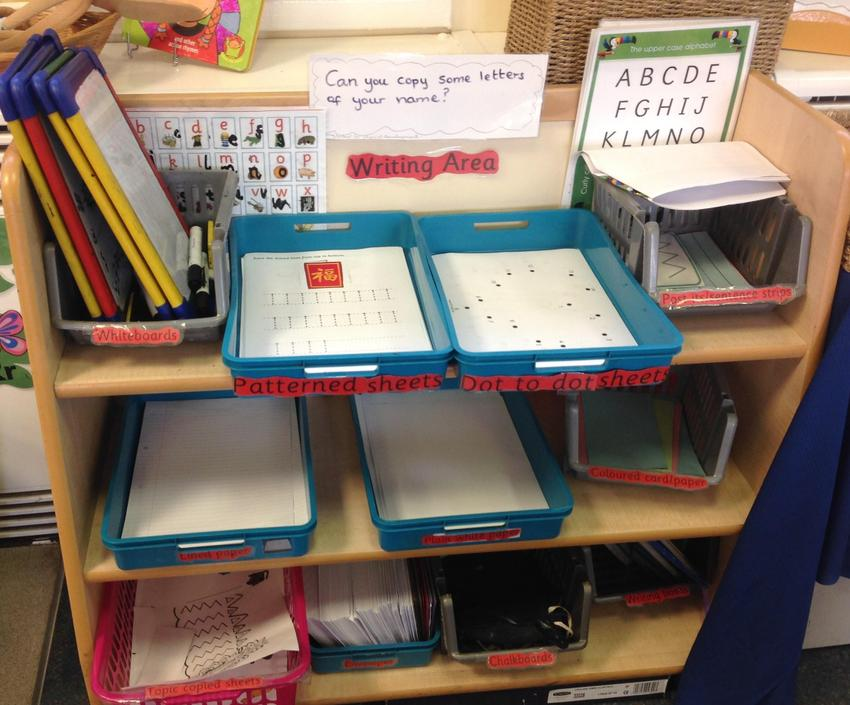 Nursery writing area