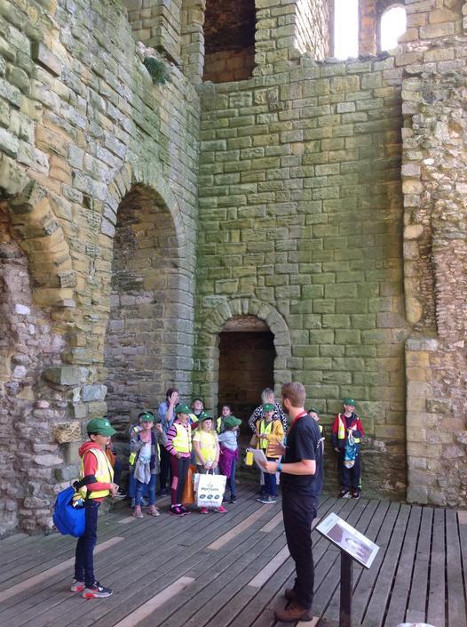 Class 3 at Scarborough Castle