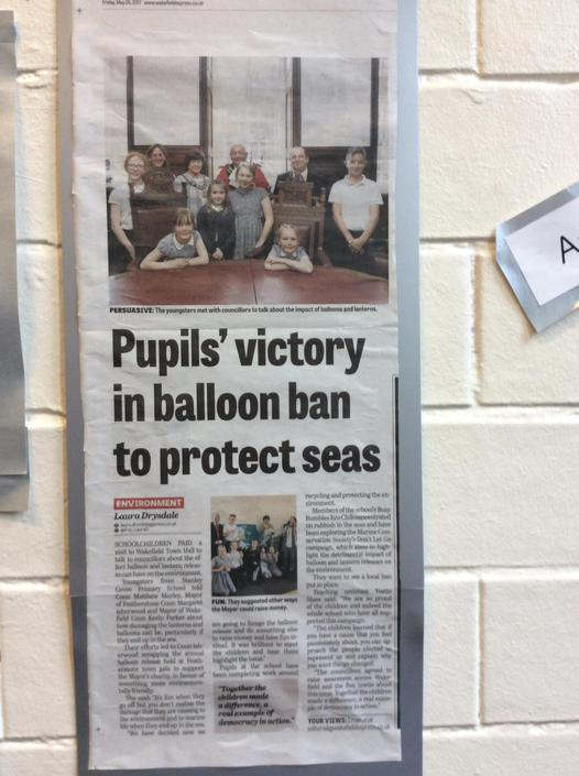 Our success hit the headlines.