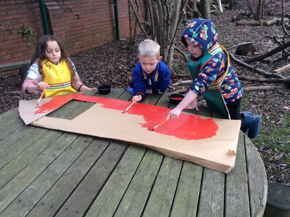Making 3 Little Pig Props