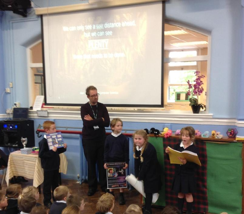 Class 3 Sharing their Local Heroes work