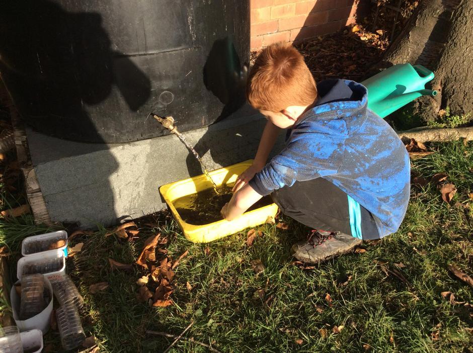Washing the excavated treasure.