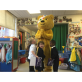 Pudsey came to say thank you for raising £2400