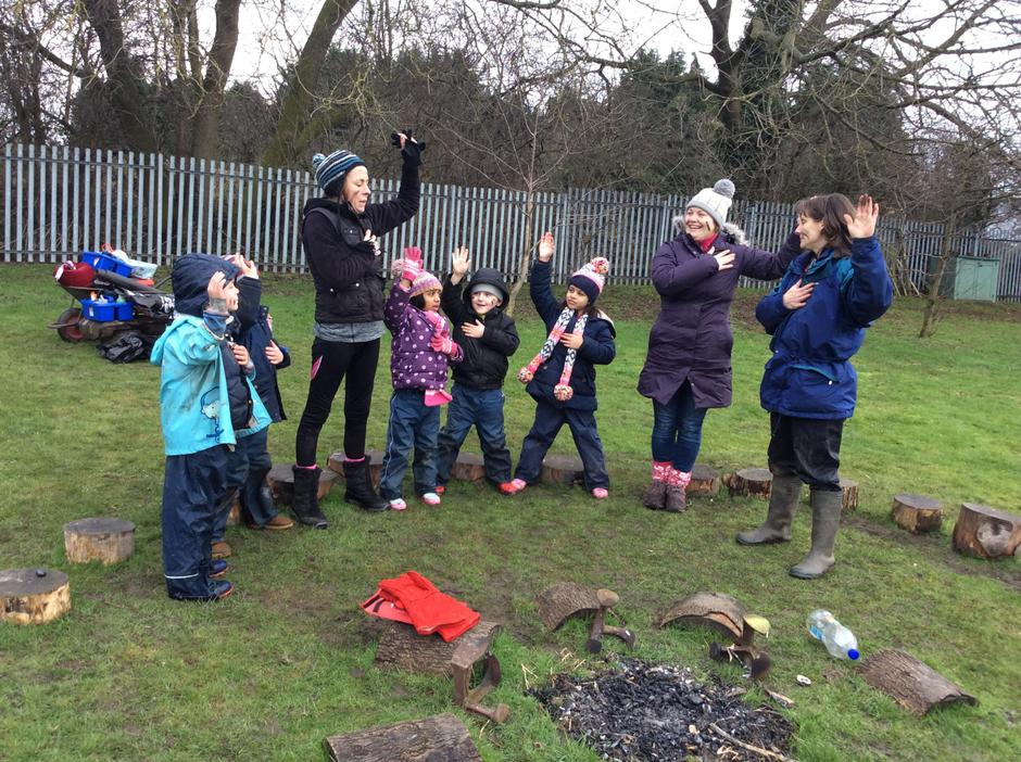 We are Forest School Heroes.