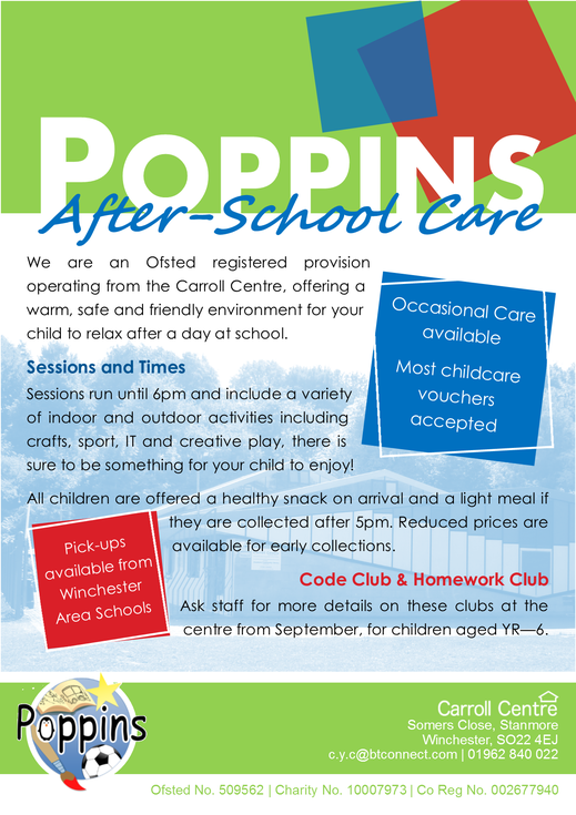 Poppins after school care