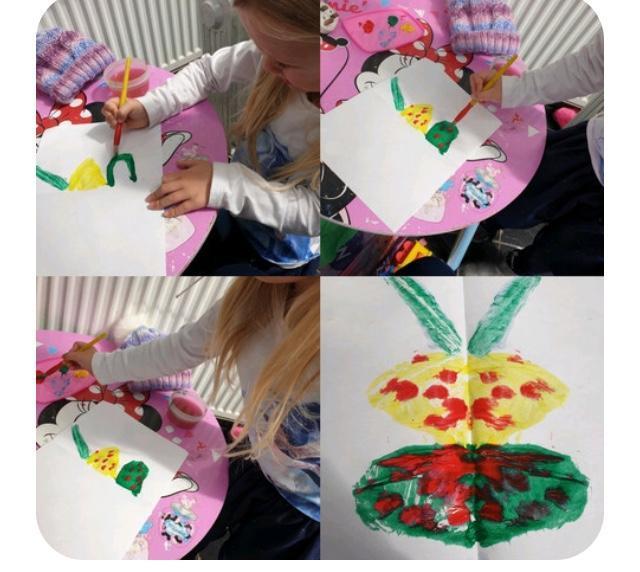 Symmetrical painting - butterflies