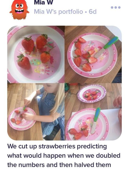 Investigating doubles and halves...🍓