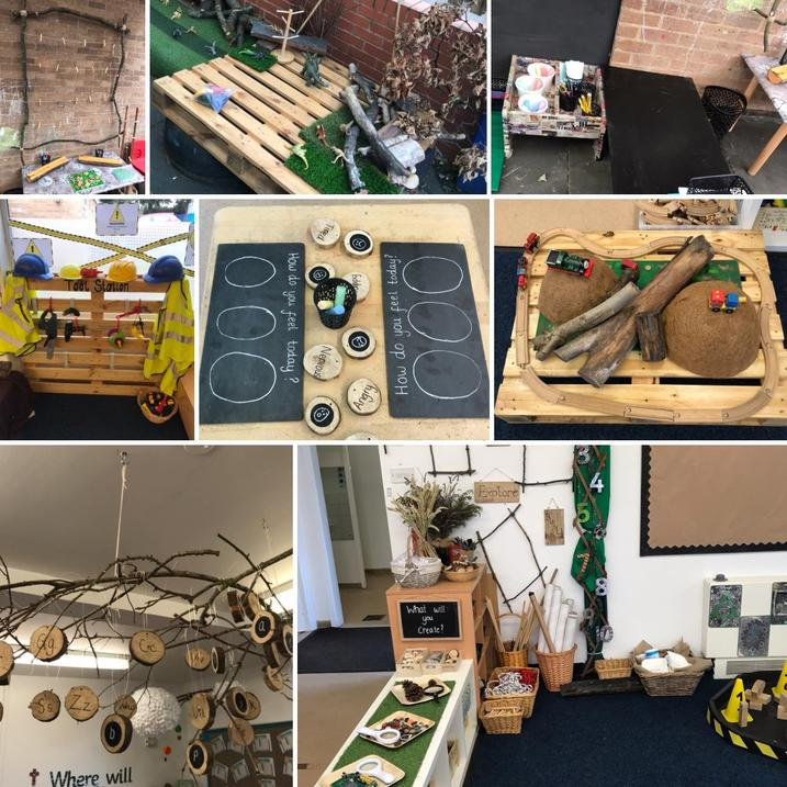 The children have really enjoyed using the natural resources to support their learning...